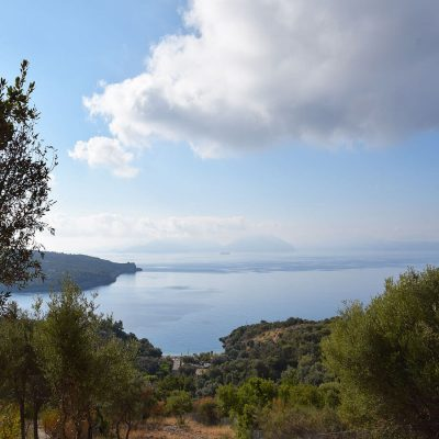 Plot with view in Ammouso, Lefkada.