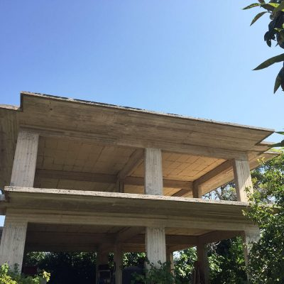 Unfinished house in Fisses, Lefkada.