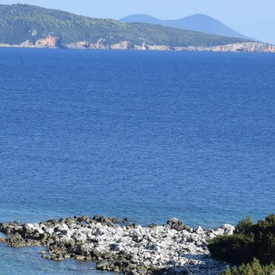 A seafront plot of land in Evgiros, Lefkada.