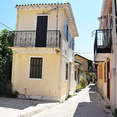 Traditional detached house in the Old Town of Lefkada.