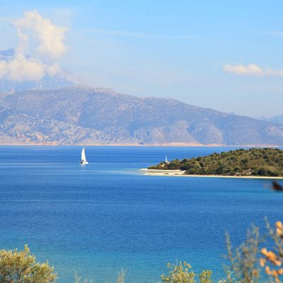 Property by the sea with a private beach in Meganisi.