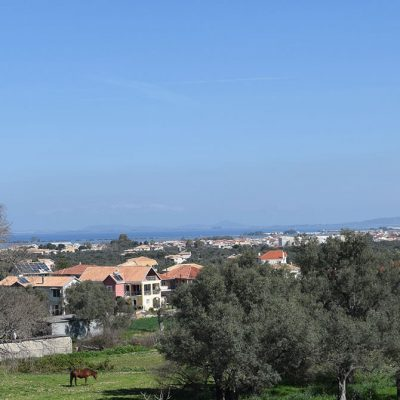 Build-able plot with view in Apolpaina Lefkada.