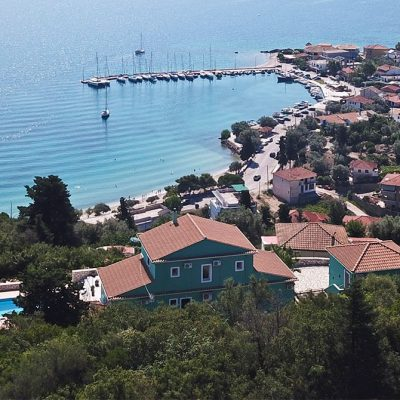 Luxury villa with view in Nikiana, Lefkada.